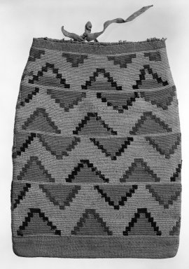 Possibly Nez Perce. <em>Flat Bag</em>. Indian hemp, 18 1/2 x 14 9/16 in.  (47.0 x 37.0 cm). Brooklyn Museum, Gift of Mrs. Frederic B. Pratt, 37.190. Creative Commons-BY (Photo: Brooklyn Museum, 37.190_view1_bw.jpg)
