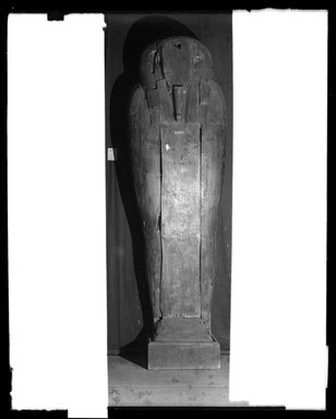 <em>Large Anthropoid Sarcophagus with Mummy</em>, 889-784 B.C.E., or 913-670 B.C.E. Wood, human remains, linen Brooklyn Museum, Charles Edwin Wilbour Fund, 37.1925Ea-c. Creative Commons-BY (Photo: Brooklyn Museum, 37.1925Ea-c_NegA_SL4.jpg)