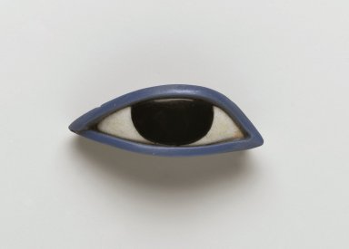 <em>Right Eye from an Anthropoid Coffin</em>, 1539-30 B.C.E. Obsidian, crystalline limestone, glass, 13/16 x 2 5/16 x 1 in. (2.1 x 5.8 x 2.6 cm). Brooklyn Museum, Charles Edwin Wilbour Fund, 37.1951E. Creative Commons-BY (Photo: Brooklyn Museum, 37.1951E_view1_PS2.jpg)