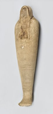 <em>Ibis-Form Shrew Mummy</em>, 664-332 B.C.E. Animal remains (Crocidura flavescens, C. nana, C. olivieri, or C. religiosa), linen, 4 3/4 x 3 1/2 x 19 5/8 in. (12.1 x 8.9 x 49.8 cm). Brooklyn Museum, Charles Edwin Wilbour Fund, 37.1987E. Creative Commons-BY (Photo: Brooklyn Museum (Gavin Ashworth,er), 37.1987E_Gavin_Ashworth_photograph.jpg)