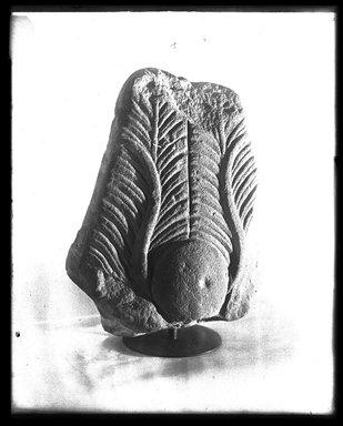 <em>Headdress from a Statue</em>, ca. 1539-1075 B.C.E. Sandstone Brooklyn Museum, Charles Edwin Wilbour Fund, 37.1989E. Creative Commons-BY (Photo: Brooklyn Museum, 37.1989E_NegA_SL4.jpg)