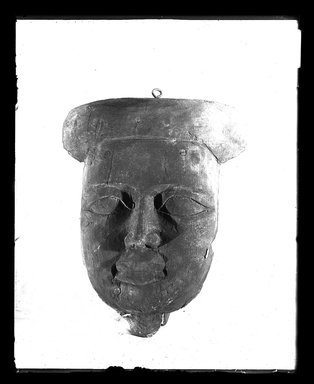 <em>Face from A Coffin</em>. Wood, 11 1/4 x 3 9/16 x 14 3/16 in. (28.5 x 9 x 36 cm). Brooklyn Museum, Charles Edwin Wilbour Fund, 37.2041.7E. Creative Commons-BY (Photo: Brooklyn Museum, 37.2041.7E_NegA_SL4.jpg)
