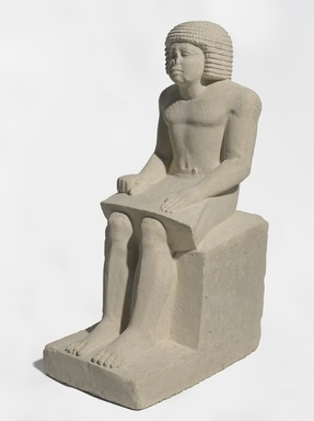 <em>Superintendent of the Granary, Irukaptah</em>, ca. 2455–2425 B.C.E. Limestone, 29 1/2 × 11 1/2 × 17 in., 178.5 lb. (74.9 × 29.2 × 43.2 cm, 80.97kg). Brooklyn Museum, Charles Edwin Wilbour Fund, 37.20E. Creative Commons-BY (Photo: , 37.20E_PS9.jpg)