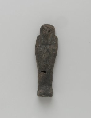 <em>Ushabti of Yuf-o</em>, 664-343 B.C.E. Faience, 3 5/8 x 1 1/16 x 11/16 in. (9.3 x 2.8 x 1.8 cm). Brooklyn Museum, Charles Edwin Wilbour Fund, 37.228E. Creative Commons-BY (Photo: Brooklyn Museum, 37.228E_front_PS2.jpg)