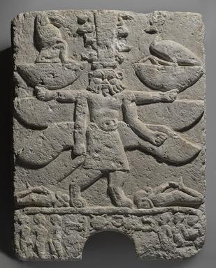 Egyptian. <em>Magical Relief</em>, 305-30 B.C.E. Limestone, 31 1/2 x 25 1/2 x 5 in., 238 lb. (80 x 64.8 x 12.7 cm, 107.96kg). Brooklyn Museum, Charles Edwin Wilbour Fund, 37.229. Creative Commons-BY (Photo: Brooklyn Museum, 37.229_PS9.jpg)