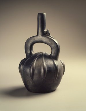 Chimú Style. <em>Stirrup Spout Bottle in Form of Fruit</em>, 20th century. Ceramic, 9 3/4 x 5 3/4 x 6 in. (24.8 x 14.6 x 15.2 cm). Brooklyn Museum, Frank Sherman Benson Fund and Henry L. Batterman Fund, 37.2523PA. Creative Commons-BY (Photo: Brooklyn Museum, 37.2523PA.jpg)