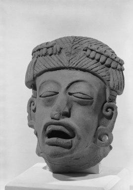 <em>Large Head</em>. Ceramic Brooklyn Museum, 37.265. Creative Commons-BY (Photo: Brooklyn Museum, 37.265_acetate_bw.jpg)