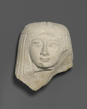 <em>Female Head</em>, ca. 1336-1185 B.C.E. Limestone, 5 1/2 x 5 x 3 1/2 in. (14 x 12.7 x 8.9 cm). Brooklyn Museum, Charles Edwin Wilbour Fund, 37.268E. Creative Commons-BY (Photo: Brooklyn Museum, 37.268E_PS1.jpg)
