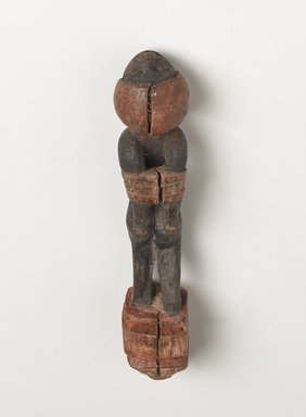 Egyptian. <em>Handle of a Fly Whisk (?) in the Form of Bound Nubian</em>, ca. 1539-1292 B.C.E. Wood, 1 7/16 x 8 3/16 in. (3.6 x 20.8 cm). Brooklyn Museum, Charles Edwin Wilbour Fund, 37.275E. Creative Commons-BY (Photo: , 37.275E_back_view2_PS9.jpg)