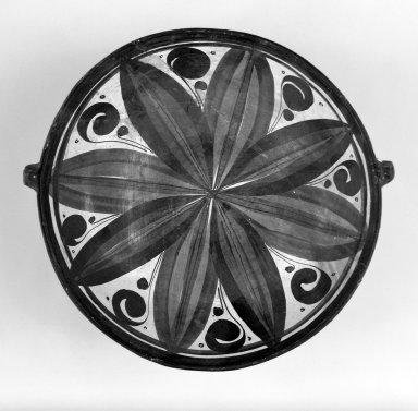 Tonala. <em>Dish</em>, 19th century. Ceramic, pigment, 2 1/4 x 7 13/16 x 7 5/16 in. (5.7 x 19.8 x 18.6 cm). Brooklyn Museum, Frank Sherman Benson Fund and the Henry L. Batterman Fund, 37.2945PA. Creative Commons-BY (Photo: Brooklyn Museum, 37.2945PA_bw.jpg)