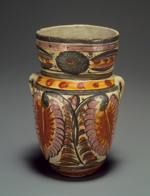 Tonala. <em>Jar</em>, circa 1848. Ceramic, pigment, 6 1/2 x 4 1/2 x 3 3/4 in. (16.5 x 11.4 x 9.5 cm). Brooklyn Museum, Frank Sherman Benson Fund and the Henry L. Batterman Fund, 37.2967PA. Creative Commons-BY (Photo: Brooklyn Museum, 37.2967PA.jpg)
