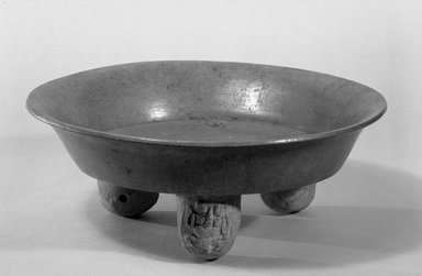 Maya. <em>Tripod Plate</em>. Ceramic, 4 3/4 x 12 5/8 x 12 5/8 in. (12 x 32 x 32 cm). Brooklyn Museum, Frank Sherman Benson Fund and the Henry L. Batterman Fund, 37.2977PA. Creative Commons-BY (Photo: Brooklyn Museum, 37.2977PA_acetate_bw.jpg)
