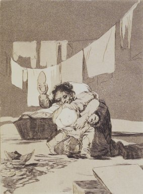 Francisco de Goya y Lucientes (Spanish, 1746-1828). <em>Yes He Broke the Pot (Si quebró el cantaro)</em>, 1797-1798. Etching, aquatint, and drypoint on laid paper, Sheet: 11 13/16 x 7 7/8 in. (30 x 20 cm). Brooklyn Museum, A. Augustus Healy Fund, Frank L. Babbott Fund, and Carll H. de Silver Fund, 37.33.25 (Photo: Brooklyn Museum, 37.33.25_transp5008.jpg)
