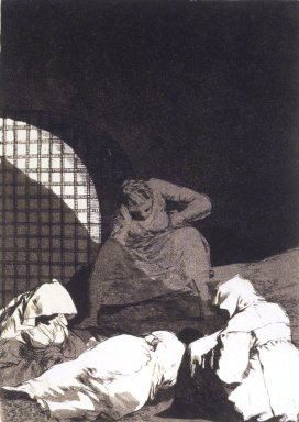 Francisco de Goya y Lucientes (Spanish, 1746-1828). <em>Sleep Overcomes Them (Las rinde el sueño)</em>, 1797-1798. Etching and aquatint on laid paper, Sheet: 11 7/8 x 7 15/16 in. (30.2 x 20.2 cm). Brooklyn Museum, A. Augustus Healy Fund, Frank L. Babbott Fund, and Carll H. de Silver Fund, 37.33.34 (Photo: Brooklyn Museum, 37.33.34_transp5004.jpg)