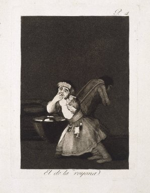 Francisco de Goya y Lucientes (Spanish, 1746-1828). <em>Nanny's Boy (El de la rollona)</em>, 1797-1798. Etching and aquatint on laid paper, Sheet: 11 13/16 x 7 15/16 in. (30 x 20.2 cm). Brooklyn Museum, A. Augustus Healy Fund, Frank L. Babbott Fund, and Carll H. de Silver Fund, 37.33.4 (Photo: Brooklyn Museum, 37.33.4_SL1.jpg)