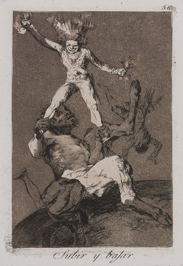 Francisco de Goya y Lucientes (Spanish, 1746-1828). <em>To Rise and Fall (Subir y bajar)</em>, 1797-1798. Etching and aquatint on laid paper, Sheet: 11 7/8 x 8 in. (30.2 x 20.3 cm). Brooklyn Museum, A. Augustus Healy Fund, Frank L. Babbott Fund, and Carll H. de Silver Fund, 37.33.56 (Photo: , 37.33.56_PS9.jpg)
