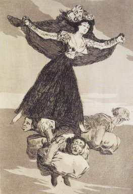 Francisco de Goya y Lucientes (Spanish, 1746-1828). <em>They Have Flown (Volaverunt)</em>, 1797-1798. Etching, aquatint, and drypoint on laid paper, Sheet: 11 7/8 x 8 in. (30.2 x 20.3 cm). Brooklyn Museum, A. Augustus Healy Fund, Frank L. Babbott Fund, and Carll H. de Silver Fund, 37.33.61 (Photo: Brooklyn Museum, 37.33.61_transp5003.jpg)