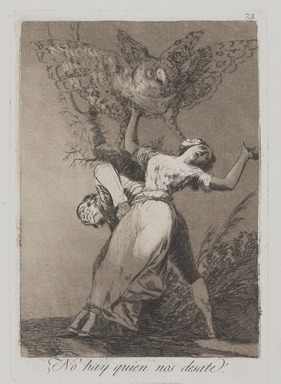 Francisco de Goya y Lucientes (Spanish, 1746-1828). <em>Can't Anyone Untie Us? (¿No hay quien no desate?)</em>, 1797-1798. Etching and aquatint on laid paper, Sheet: 11 7/8 x 8 in. (30.2 x 20.3 cm). Brooklyn Museum, A. Augustus Healy Fund, Frank L. Babbott Fund, and Carll H. de Silver Fund, 37.33.75 (Photo: , 37.33.75_PS9.jpg)