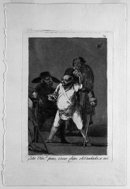 Francisco de Goya y Lucientes (Spanish, 1746-1828). <em>Esta Vmad (1) Pues, Como Digo...Eh...Cuidado.  Si no.</em>, 1797-1798. Etching and aquatint on laid paper, Sheet: 11 7/8 x 7 15/16 in. (30.2 x 20.2 cm). Brooklyn Museum, A. Augustus Healy Fund, Frank L. Babbott Fund, and Carll H. de Silver Fund, 37.33.76 (Photo: Brooklyn Museum, 37.33.76_bw.jpg)