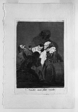 Francisco de Goya y Lucientes (Spanish, 1746-1828). <em>No One Has Seen Us (Nadie nos ha visto)</em>, 1797-1798. Etching and aquatint on laid paper, Sheet: 11 7/8 x 8 in. (30.2 x 20.3 cm). Brooklyn Museum, A. Augustus Healy Fund, Frank L. Babbott Fund, and Carll H. de Silver Fund, 37.33.79 (Photo: Brooklyn Museum, 37.33.79_bw.jpg)