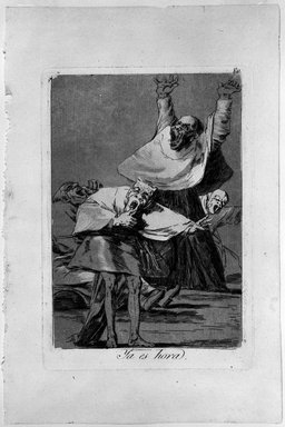 Francisco de Goya y Lucientes (Spanish, 1746-1828). <em>It Is Time (Ya es hora)</em>, 1797-1798. Etching and aquatint on laid paper, Sheet: 11 7/8 x 7 15/16 in. (30.2 x 20.2 cm). Brooklyn Museum, A. Augustus Healy Fund, Frank L. Babbott Fund, and Carll H. de Silver Fund, 37.33.80 (Photo: Brooklyn Museum, 37.33.80_bw.jpg)