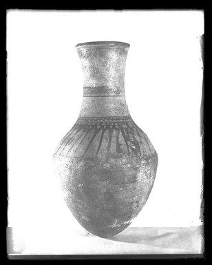 <em>Storage Jar</em>, ca. 1426-1390 B.C.E. Clay, pigment, 16 15/16 × Diam. 9 1/4 in. (43 × 23.5 cm). Brooklyn Museum, Charles Edwin Wilbour Fund, 37.347E. Creative Commons-BY (Photo: Brooklyn Museum, 37.347E_NegA_SL4.jpg)