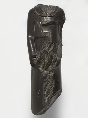<em>Overseer of the Treasury, Ptahhotep</em>, 521-486 B.C.E. Schist, 35 × 12 × 13 in., 252 lb. (88.9 × 30.5 × 33 cm, 114.31kg). Brooklyn Museum, Charles Edwin Wilbour Fund, 37.353. Creative Commons-BY (Photo: , 37.353_PS9.jpg)