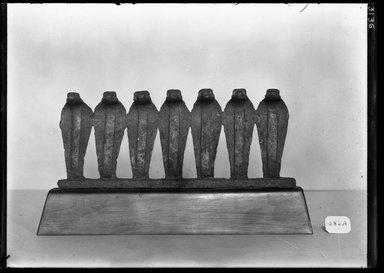 <em>Cornice of uraei</em>. Bronze, 2 15/16 × 7 1/16 in. (7.5 × 18 cm). Brooklyn Museum, Charles Edwin Wilbour Fund, 37.368E. Creative Commons-BY (Photo: Brooklyn Museum, 37.368E_NegA_SL4.jpg)