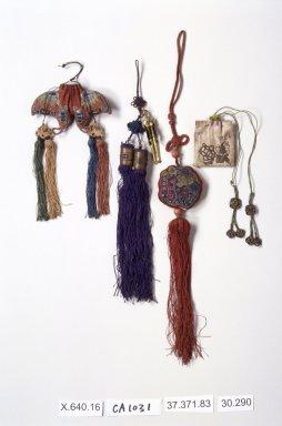 <em>Tassel (Norigae)</em>, last half 20th century. Silk, Overall: 16 3/4 in. (42.5 cm). Brooklyn Museum, Frank L. Babbott Fund, 37.371.83. Creative Commons-BY (Photo: Brooklyn Museum, 37.371.83.jpg)