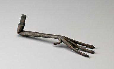 <em>Ibis Leg and Foot</em>, 664–332 B.C.E. Bronze, 2 7/8 x 2 1/8 x 9 5/8 in. (7.3 x 5.4 x 24.5 cm). Brooklyn Museum, Charles Edwin Wilbour Fund, 37.385Eb. Creative Commons-BY (Photo: Brooklyn Museum (Gavin Ashworth,er), 37.385Eb_Gavin_Ashworth_photograph.jpg)