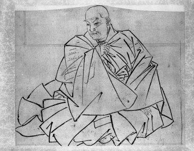 Katsushika Hokusai (Japanese, 1760-1849). <em>Sketch</em>, 1760-1849. Ink on paper, image: 11 3/16 x 13 1/4 in. (28.4 x 33.7 cm). Brooklyn Museum, Designated Purchase Fund, 37.395 (Photo: Brooklyn Museum, 37.395_bw.jpg)