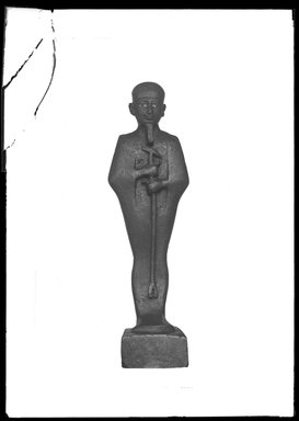 <em>Small Figurine of the God Ptah</em>. Bronze, gold leaf, Overall height: 4 13/16 in. (12.3 cm). Brooklyn Museum, Charles Edwin Wilbour Fund, 37.421E. Creative Commons-BY (Photo: Brooklyn Museum, 37.421E_SL4.jpg)