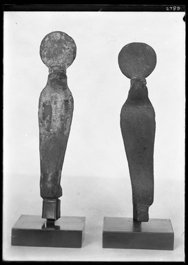 <em>Uraeus</em>. Wood, stucco, 5 7/8 x 1 1/4 x 1 1/2 in. (15 x 3.2 x 3.8 cm). Brooklyn Museum, Charles Edwin Wilbour Fund, 37.432E. Creative Commons-BY (Photo: , 37.432E_37.433E_GrpA_SL4.jpg)