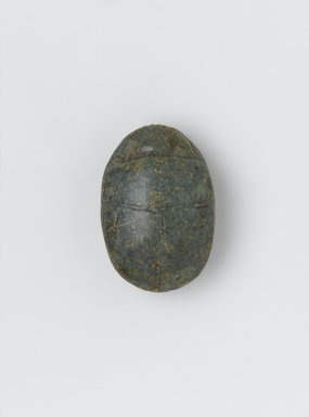 <em>Heart Scarab of Djedmutes'Ankh</em>, ca. 1539-1190 B.C.E. Stone, 7/8 x 1 5/16 x 1 15/16 in. (2.2 x 3.3 x 4.9 cm). Brooklyn Museum, Charles Edwin Wilbour Fund, 37.485E. Creative Commons-BY (Photo: Brooklyn Museum, 37.485E_front_rotated_cropped_PS2.jpg)