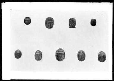 <em>Amulet in Form of Cartouche of Thutmose I</em>. Bone or ivory, height: (1.55 cm). Brooklyn Museum, Charles Edwin Wilbour Fund, 37.1332E. Creative Commons-BY (Photo: , 37.495E_37.496E_37.501E_37.502E_37.503E_37.716E_37.862E_37.1332E_37.1333E_GrpA_SL4.jpg)
