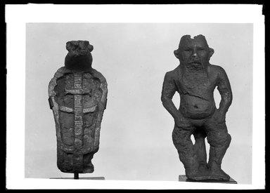 <em>Small Statuette of Bes Standing</em>, 305-30 B.C.E. Bronze Brooklyn Museum, Charles Edwin Wilbour Fund, 37.536E. Creative Commons-BY (Photo: , 37.536E_37.570E_GrpA_SL4.jpg)