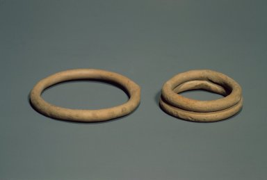 Indus Valley Culture. <em>Small Bracelet</em>, 3000-2500 B.C.E. Reddish Pottery, 5/8 x 2 3/8 in. (1.6 x 6 cm). Brooklyn Museum, A. Augustus Healy Fund, 37.54. Creative Commons-BY (Photo: , 37.54_37.56.jpg)