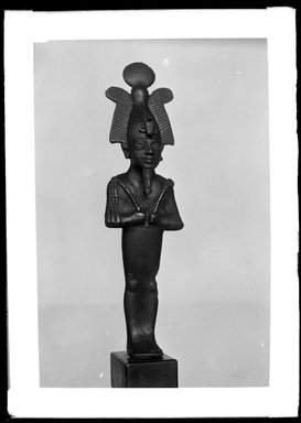 <em>The God Osiris</em>, ca. 1075-656 B.C.E. Bronze, 5 11/16 x 1 7/16 x 1 3/16 in. (14.4 x 3.6 x 3 cm). Brooklyn Museum, Charles Edwin Wilbour Fund, 37.565E. Creative Commons-BY (Photo: Brooklyn Museum, 37.565E_NegA_SL4.jpg)