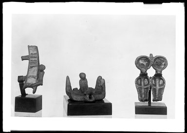 <em>Small Fragment of a Headdress from a Statuette of a God</em>. Bronze, glass, paste, 1 3/4 × 15/16 in. (4.5 × 2.4 cm). Brooklyn Museum, Charles Edwin Wilbour Fund, 37.674E. Creative Commons-BY (Photo: , 37.569E_37.674E_37.676E_GrpB_SL4.jpg)