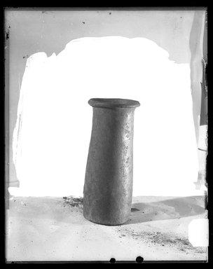 <em>Cylindrical Vase</em>, ca. 4400-3100 B.C.E. Clay Brooklyn Museum, Charles Edwin Wilbour Fund, 37.56E. Creative Commons-BY (Photo: Brooklyn Museum, 37.56E_NegC_SL4.jpg)