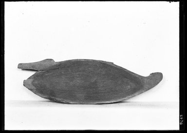 <em>Toilet Dish in the Form of a Trussed Duck</em>, ca. 1539-1292 B.C.E. Wood, 1 3/4 x 9/16 x 5 9/16 in. (4.4 x 1.5 x 14.2 cm). Brooklyn Museum, Charles Edwin Wilbour Fund, 37.615E. Creative Commons-BY (Photo: Brooklyn Museum, 37.615E_NegA_SL4.jpg)
