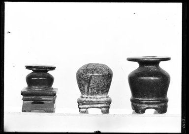 <em>Kohl Jar and Stand in One Piece</em>, ca. 1539-1292 B.C.E. Diorite Brooklyn Museum, Charles Edwin Wilbour Fund, 37.644E. Creative Commons-BY (Photo: , 37.644E_37.645E_37.651E_GrpA_SL4.jpg)