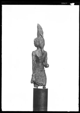 <em>Upper Part of a Figure of Neferhotep</em>. Bronze Brooklyn Museum, Charles Edwin Wilbour Fund, 37.692E. Creative Commons-BY (Photo: Brooklyn Museum, 37.692E_NegA_SL4.jpg)