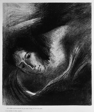 Odilon Redon (French, 1840-1916). <em>Apocalypse de Saint-Jean</em>, 1899. Lithograph on China paper laid down, 10 13/16 x 9 3/8 in. (27.4 x 23.8 cm). Brooklyn Museum, By exchange, 37.7.11 (Photo: Brooklyn Museum, 37.7.11_bw.jpg)