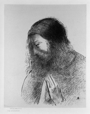 Odilon Redon (French, 1840-1916). <em>Apocalypse de Saint-Jean</em>, 1899. Lithograph on China paper laid down, 6 1/4 x 7 1/2 in. (15.8 x 19 cm). Brooklyn Museum, By exchange, 37.7.13 (Photo: Brooklyn Museum, 37.7.13_bw.jpg)