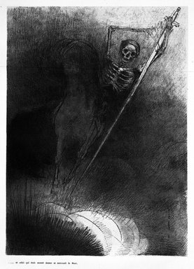 Odilon Redon (French, 1840-1916). <em>Apocalypse de Saint-Jean</em>, 1899. Lithograph on China paper laid down, 12 3/16 x 8 7/8 in. (31 x 22.5 cm). Brooklyn Museum, By exchange, 37.7.4 (Photo: Brooklyn Museum, 37.7.4_bw.jpg)