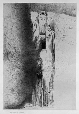 Odilon Redon (French, 1840-1916). <em>Apocalypse de Saint-Jean</em>, 1899. Lithograph on China paper laid down, 12 3/16 x 8 7/16 in. (31 x 21.5 cm). Brooklyn Museum, By exchange, 37.7.5 (Photo: Brooklyn Museum, 37.7.5_bw.jpg)