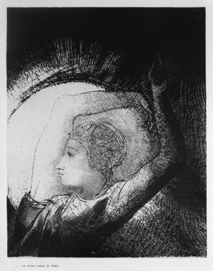 Odilon Redon (French, 1840-1916). <em>Apocalypse de Saint-Jean</em>, 1899. Lithograph on China paper laid down, 9 1/16 x 11 1/4 in. (23 x 28.6 cm). Brooklyn Museum, By exchange, 37.7.7 (Photo: Brooklyn Museum, 37.7.7_bw.jpg)