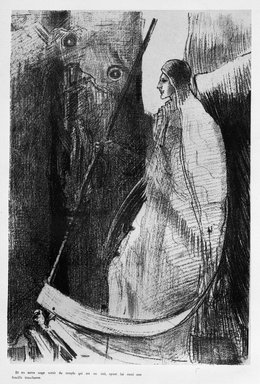 Odilon Redon (French, 1840-1916). <em>Apocalypse de Saint-Jean</em>, 1899. Lithograph on China paper laid down, 12 5/16 x 8 3/8 in. (31.3 x 21.2 cm). Brooklyn Museum, By exchange, 37.7.8 (Photo: Brooklyn Museum, 37.7.8_bw.jpg)