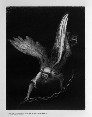 Odilon Redon (French, 1840-1916). <em>Apocalypse de Saint-Jean</em>, 1899. Lithograph on China paper laid down, 11 15/16 x 9 1/8 in. (30.4 x 23.2 cm). Brooklyn Museum, By exchange, 37.7.9 (Photo: Brooklyn Museum, 37.7.9_bw.jpg)